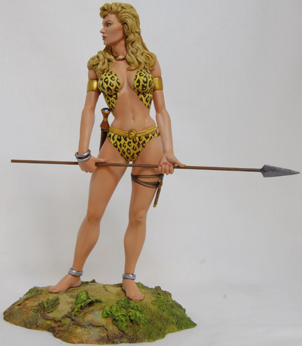 GOLDEN AGE'S SHEENA queen of jungle Sheenapainted002